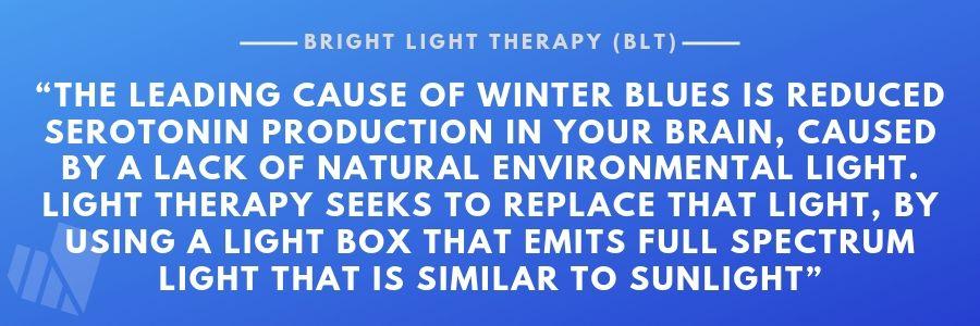 Bright Light Therapy for SAD purpose
