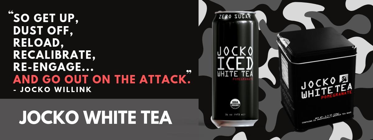 Jocko Does not drink coffee but he loves Jocko white tea!