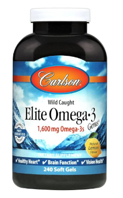 Joe Rogan takes Carlson's Omega-3 1600 mg Fish Oil