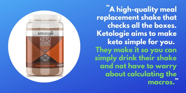 Ketologie Keto Protein Shake as a keto meal replacement