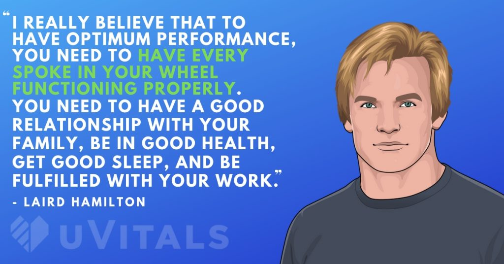 Laird Hamilton has a holistic approach to health!