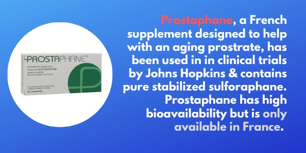 Prostaphane sulforaphane supplement is made with pure stabilized sulforaphane and is available in France