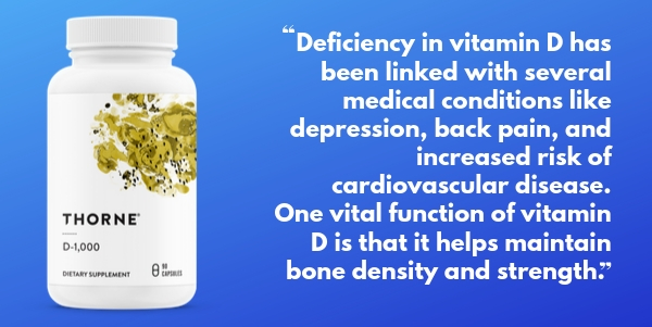 Rhonda Patrick favourite supplement is Thorne Research Vitamin D