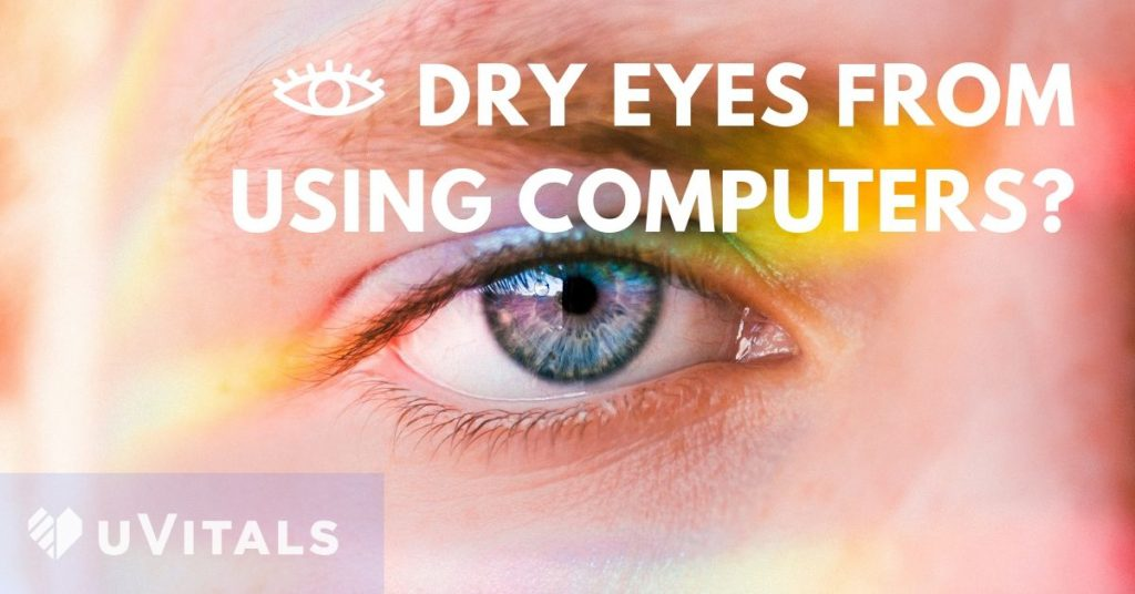 Stop computer eye strain if you user computers for extended periods