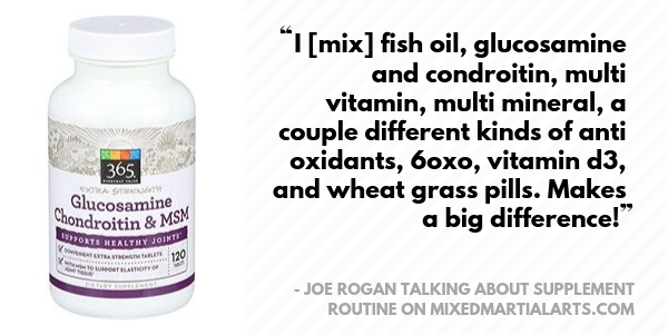 Joe Rogan takes 365 Everyday Value Glucosamine Chondroitin & MSM supplement
