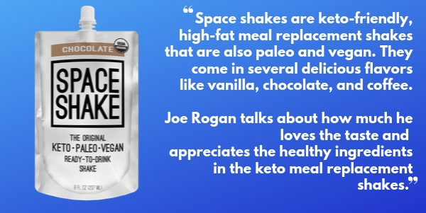 Space Shakes Keto Meal-Replacement shakes are great for staying in ketosis when travelling or on-the-go