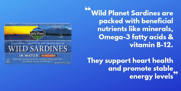 Wild Planet Sardines for Keto and overall health
